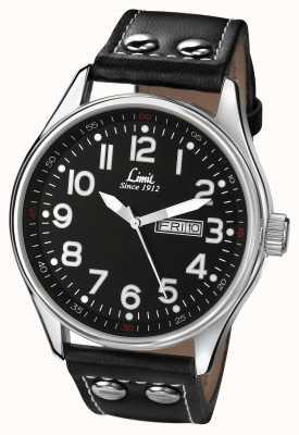 Limit Bracelet en cuir noir et noir 5491.01