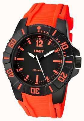 Limit Bracelet orange pour homme, cadran noir 5547.02