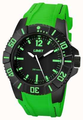 Limit Bracelet noir actif pour homme avec cadran noir 5548.02