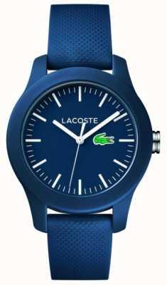 Lacoste 12.12 | bracelet en caoutchouc bleu marine unisexe cadran bleu marine 2000955