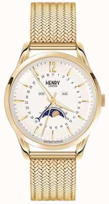 Henry London Lunette en or dorée pour homme en forme de lune HL39-LM-0160