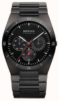 Bering Mens ip noir cadran noir plaqué 32341-792