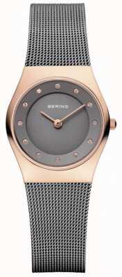 Bering Womens maille cadran gris bracelet en gris 11927-369