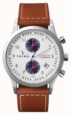 Triwa Mens duc Lansen bracelet en cuir brun LCST113-SC010215