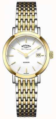 Rotary Womans windsor deux tons or argent bracelet en métal LB90154/01