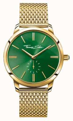 Thomas Sabo Womans acier esprit glam bracelet en maille or cadran vert WA0275-264-211-33