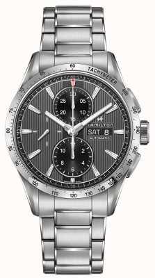 Hamilton Mens broadway chronographe automatique cadran noir bracelet en acier H43516131