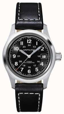 Hamilton Mens kaki field auto bracelet noir cadran noir H70455733
