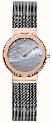 Bering Womens maille cadran gris bracelet en gris 10126-369