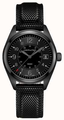 Hamilton Mens kaki field black material cadran noir H68401735