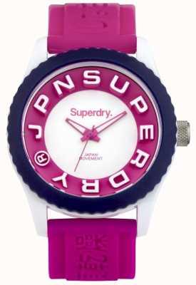 Superdry Femmes tokyo bracelet en caoutchouc rose SYL146PW