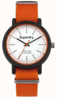 Superdry Chaussure en caoutchouc orange nato orange SYG197O