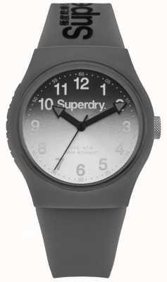 Superdry Unisexe gris laser urbain et bracelet en cuir noir SYG198EE