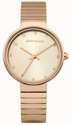 Karen Millen Bracelet en acier inoxydable plaqué or rose Womens KM131RGM