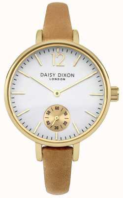 Daisy Dixon Womens cuir de chameau grâce bracelet cadran blanc DD026EG