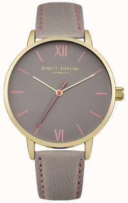 Daisy Dixon Femmes annie cuir gris cadran bracelet en gris DD029EG