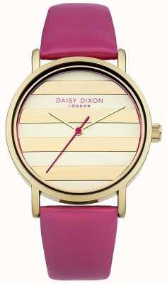 Daisy Dixon Womens cadran en or pavot rose bracelet en cuir DD009PG