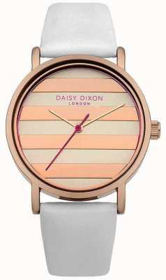 Daisy Dixon Womens pavot blanc bracelet en cuir rose cadran or DD009WRG