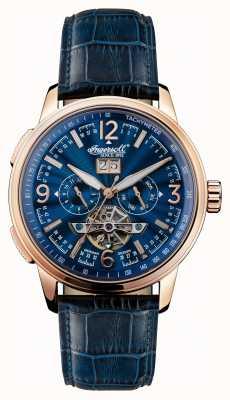 Ingersoll Mens 1892 le cordon de cuir bleu régent bleu cadran bleu I00301