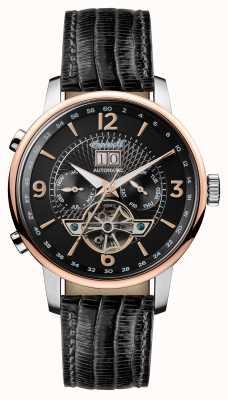 Ingersoll Mens 1892 le bracelet en cuir noir grafton cadran noir I00702
