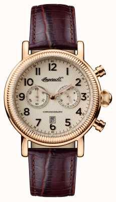 Ingersoll Mens 1892 le bracelet en cuir marron daniels I01001