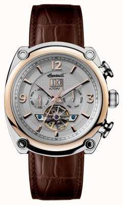 Ingersoll Mens 1892 le bracelet michigan en cuir marron I01103