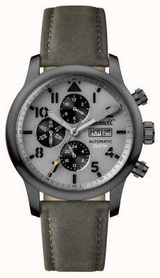 Ingersoll Découverte des hommes le bracelet en cuir gris hatton cadran gris I01401
