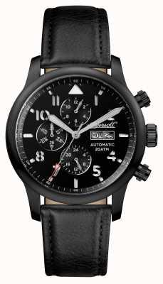 Ingersoll Découverte des hommes le bracelet en cuir noir Hatton noir I01402