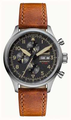 Ingersoll Découverte des hommes le bateman bracelet en cuir marron cadran noir I01902