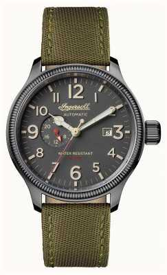 Ingersoll Découverte des hommes le bracelet en cuir vert apsley cadran gris I02802