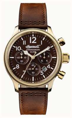 Ingersoll Découverte masculine le bracelet marron brun apsley cadran brun I03802