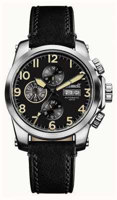 Ingersoll Découverte des hommes la manning bracelet en cuir noir cadran noir I03101