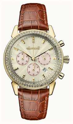 Ingersoll Femmes chronique le bracelet en cuir marron cuir marron I03902