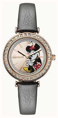 Ingersoll Union féminine le bracelet en cuir gris disney cadran d'or ID00302