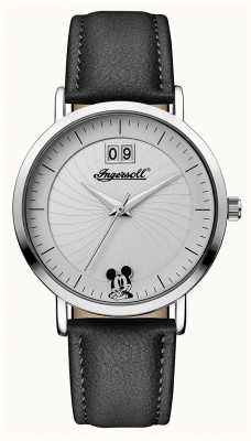 Disney By Ingersoll Womens union le bracelet en cuir noir disney ID00501