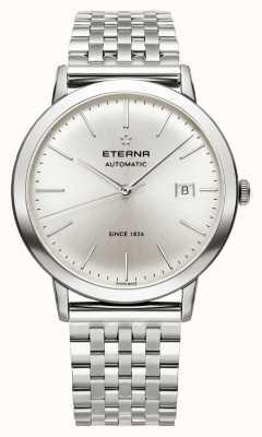 Eterna Mens éternité automatique cadran argenté bracelet en acier brossé 2700.41.10.1736