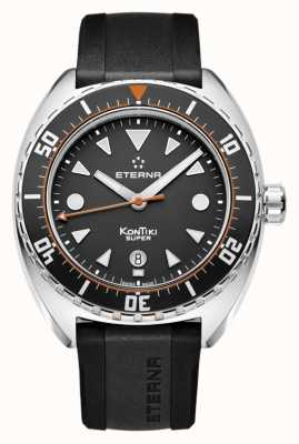 Eterna Mens Super kontiki bracelet noir cadran noir automatique 1273.41.46.1382
