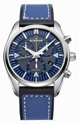 Eterna Mens kontiki bleu chronographe à quartz 1250.41.81.1303