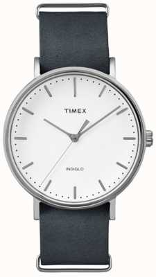 Timex Cadran blanc du fairfield unisexe TW2P91300