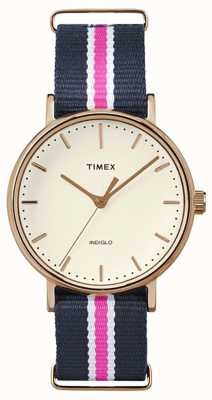 Timex Womans weekender fairfax sangle marine rose TW2P91500