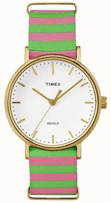 Timex Womans weekender fairfax rose vert sangle TW2P91800
