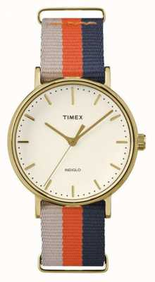 Timex Unisexe weekender fairfax bracelet brun orangé TW2P91600