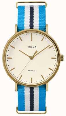 Timex Unisex weekender fairfax bleu blanc sangle TW2P91000