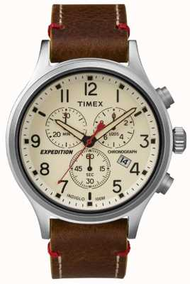 Timex Mens cadran crème chronographe scout TW4B04300