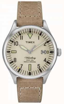 Timex Unisexe la crème waterbury cadran bracelet beige TW2P84500