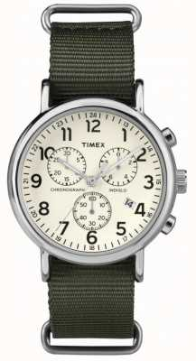 Timex cadran crème chronographe Weekender Unisexe TW2P71400