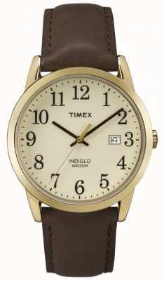 Timex Mens cadran crème lecteur facile TW2P75800