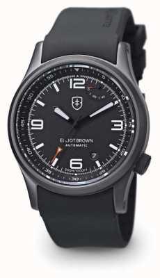 Elliot Brown Bracelet en caoutchouc noir tyneham noir étui noir 305-D01-R06
