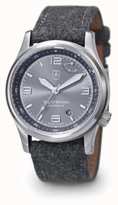 Elliot Brown Tyneham pour homme avec bracelet gris à cadran gris 305-D02-F01