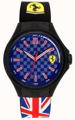 Scuderia Ferrari Hommes membres de l'équipage union drapeau bande en caoutchouc cadran bleu 0830351